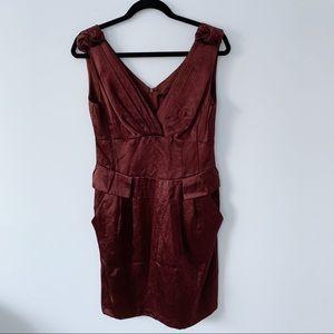 NWT Nanette Leporo Burgundy Rust $348 Retail Dress
